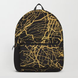 MEXICO CITY GOLD ON BLACK CITY MAP Backpack