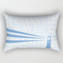 Nautical Lighthouse poster Rectangular Pillow