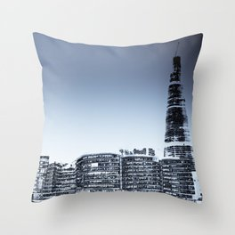 The Shard and London's southbank Throw Pillow