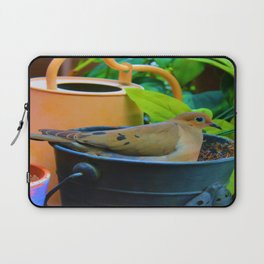 A Bird in a Bucket Laptop Sleeve