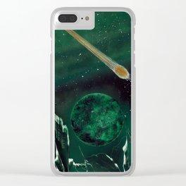 Copper Colored Comet Cometh Clear iPhone Case