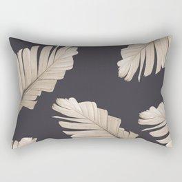 Sepia Banana Leaves Dream #2 #foliage #decor #art #society6 Rectangular Pillow