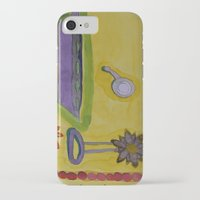 bathroom iPhone & iPod Cases featuring The Yellow Bathroom by Heidi Capitaine