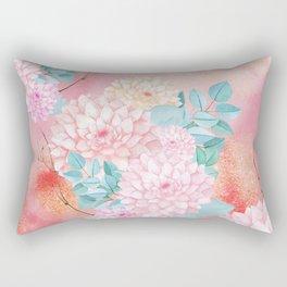 Gold dahlia bouquet #society6 Rectangular Pillow