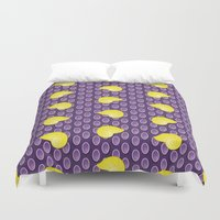 shell Duvet Covers featuring shell by MelleNora