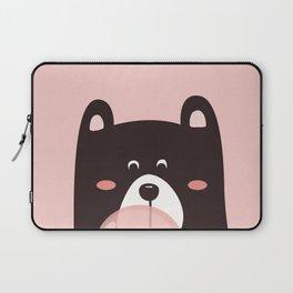 Bear with bubble gum Laptop Sleeve