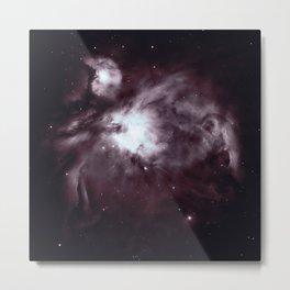 Slate Gray Orion Nebula Metal Print