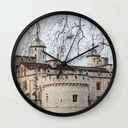 Tower of London in Winter Wall Clock