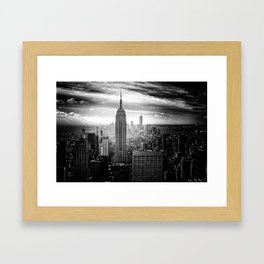 New york city black white 2 Framed Art Print