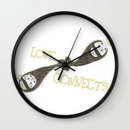 Love Connects Wall Clock