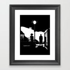 The Exorcist movie poster parody of Doctor Who 10th Framed Art Print