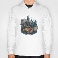 red riding hood Hoodies featuring Little Red Riding Hood by Anne Lambelet