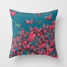 Flutterflies Throw Pillow
