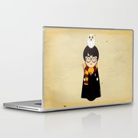 harry Laptop & iPad Skins featuring Kokeshi Harry  by Pendientera