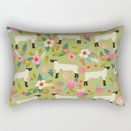 Show Lamb farm floral gifts homesteader farming sheep lamb animal Rectangular Pillow