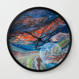 The Space Traveler Wall Clock