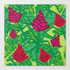 Tropical dreams green Canvas Print