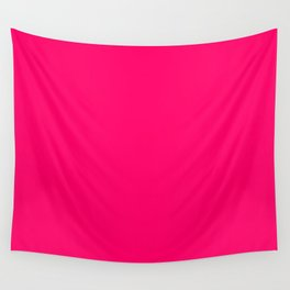 Bright Fluorescent Pink Neon Wall Tapestry