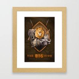 The Big Five Framed Art Print