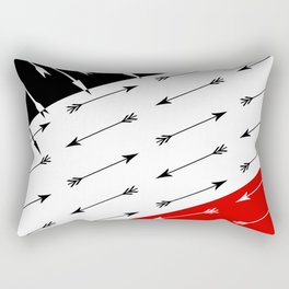 Red black , white pattern Boom 2 . Rectangular Pillow