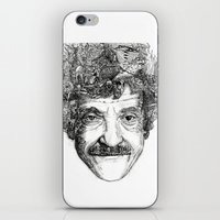 vonnegut iPhone & iPod Skins featuring Kurt Vonnegut by Kazak