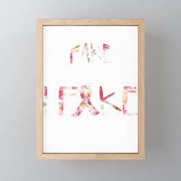 Flower Design Fibromyalgia Warrior Awareness fake Framed Mini Art Print