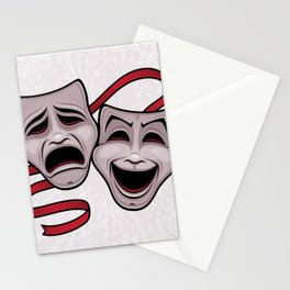 Comedy And Tragedy Theater Masks Stationery Cards