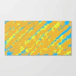 orange yellow and blue painting abstract background Canvas Print