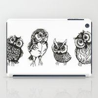 owls iPad Cases featuring OWLS by Acus