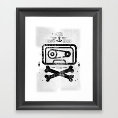 Pirate Tape Framed Art Print