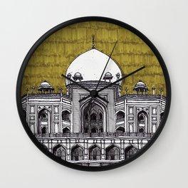 Humayun's Tomb (Olive) Wall Clock