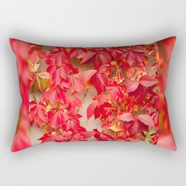 Vitaceae ivy wall abstract Rectangular Pillow