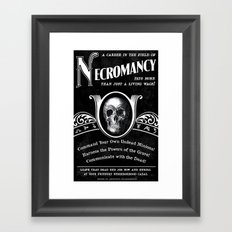 Faux School of Necromancy Recruitment Poster Framed Art Print