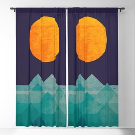 The ocean, the sea, the wave - night scene Blackout Curtain