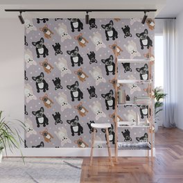Frenchies Cute French Bulldog Pattern Wall Mural