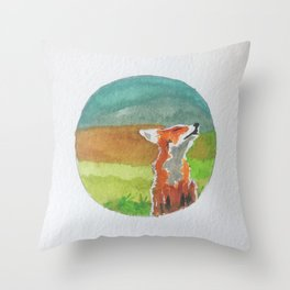 Rounded fox Throw Pillow