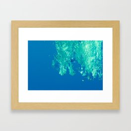 Waves under the water Framed Art Print