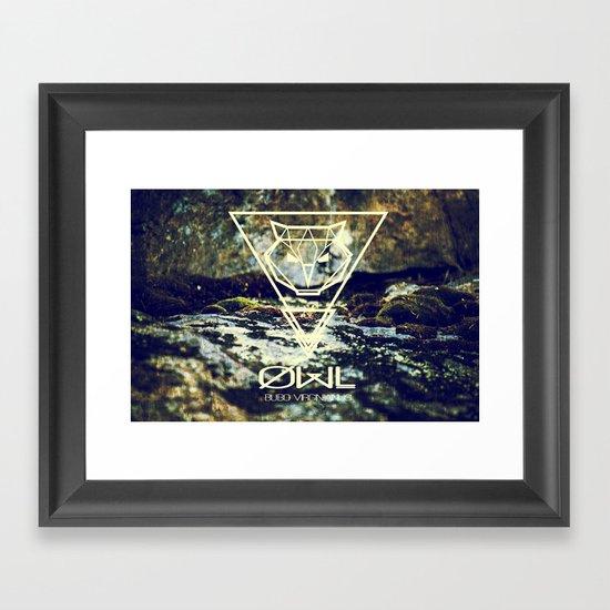 Geo-Owl Framed Art Print