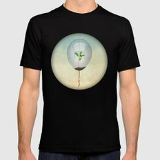 micro environment Mens Fitted Tee Black LARGE