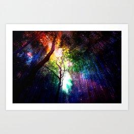 rainbow rain Kunstdrucke