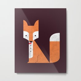 Le Sly Fox Metal Print