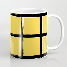 Yellow plaid, pool tiles pattern, tartan Coffee Mug