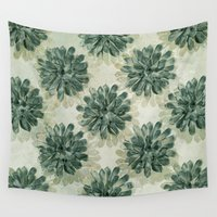 succulents Wall Tapestries featuring Succulents by Sandra Arduini