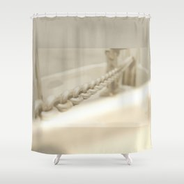 Anchor chain in detail Shower Curtain