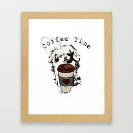 Pekingese Coffee Time VS6S Framed Art Print