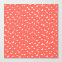 Flamingos and Living Coral Pantone 2019 Color Canvas Print