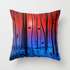 Mystical forest Throw Pillow