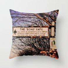 Echo Gate Throw Pillow