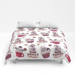 Cookie & cream & penguin Comforters