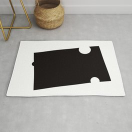 Black and White Element VI Rug